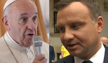 """Duda po spotkaniu z papieżem: """"Nie rozmawialiśmy na temat uchodźców. Nie zgadzamy się na to, aby siłą sprowadzano ludzi do Polski"""""""