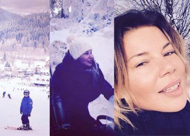 Górniak pokazuje zdjęcia z ferii w górach: