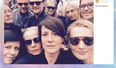 Gwiazdy zrobiły sobie selfie w trakcie Czarnego Protestu