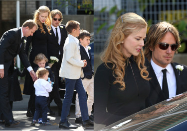 Nicole Kidman na pogrzebie ojca: