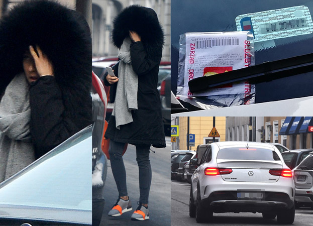 Lewandowska dostała mandat za złe parkowanie (ZDJĘCIA)