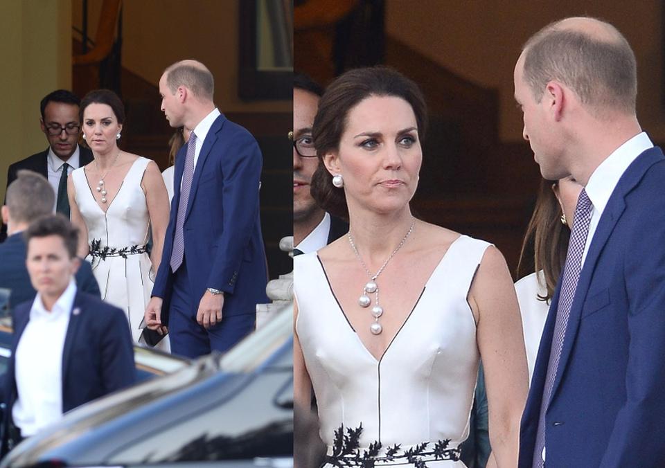 Księżna Kate i książę William w drodze na bankiet