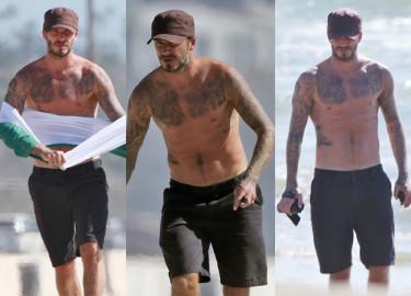 Wytatuowana klata Davida Beckhama! (ZDJĘCIA)