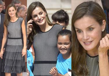 Uśmiechnięta królowa Letizia pozuje z dziećmi z podstawówki (ZDJĘCIA)