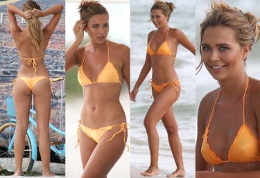 Sandra Kubicka w bikini na plaży w Miami. Seksowna? (ZDJĘCIA)