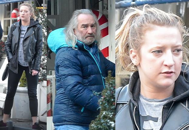 Lara Gessler z ojcem i narzeczonym wychodzi z restauracji (ZDJĘCIA)