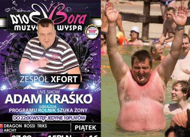 """""""Live show"""" Adama Kraśko w klubie Bora Bora... (FOTO)"""