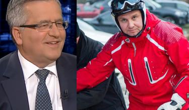 """Komorowski: """"Sukcesy prezydenta Dudy? Świetnie jeździ na nartach"""""""