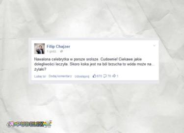 Filip Chajzer skomentował wyczyny Joanny L.