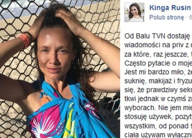 """46-letnia Kinga Rusin zdradza sekret swojej urody: """"Nie jem mięsa, lubię się ruszać, nie stosuję używek, pozytywnie myślę"""""""