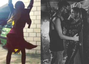 Maffashion tańczy na planie teledysku... Ma talent?