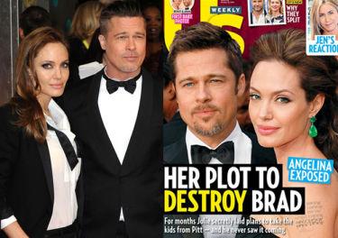 """""""US Weekly"""": """"Angelina planuje zniszczyć Brada"""""""