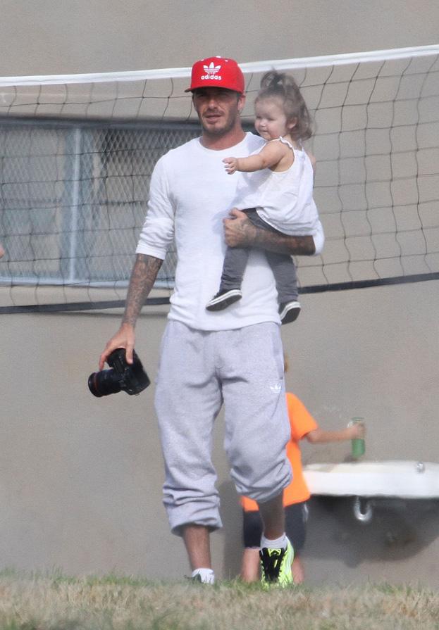 David Beckham z córką na meczu!