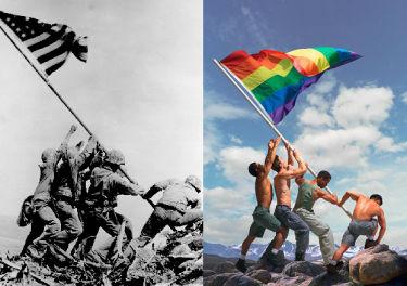Autor zdjęcia z tęczową flagą: