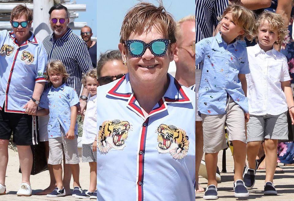 Elton John z rodziną w Saint-Tropez