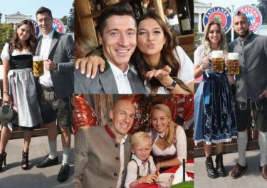 Lewandowscy i piłkarze Bayernu z żonami świętują Oktoberfest (ZDJĘCIA)