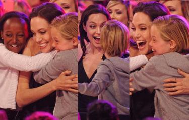 Angelina z dziećmi na Kids Choice Awards! (ZDJĘCIA)