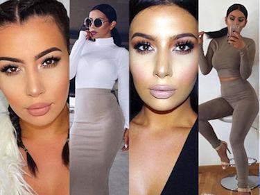 """Nowa """"sobowtórka"""" Kim Kardashian podbija internet. Podobna? (ZDJĘCIA)"""