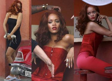 Ruda Rihanna na planie nowej sesji na Kubie! (ZDJĘCIA)