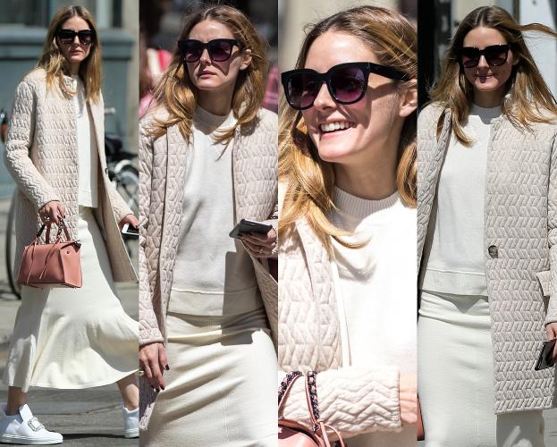 #TRENDY: Olivia Palermo w kremowej stylizacji