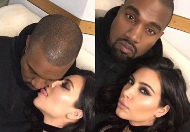 Czułości Kanye Westa i Kim Kardashian