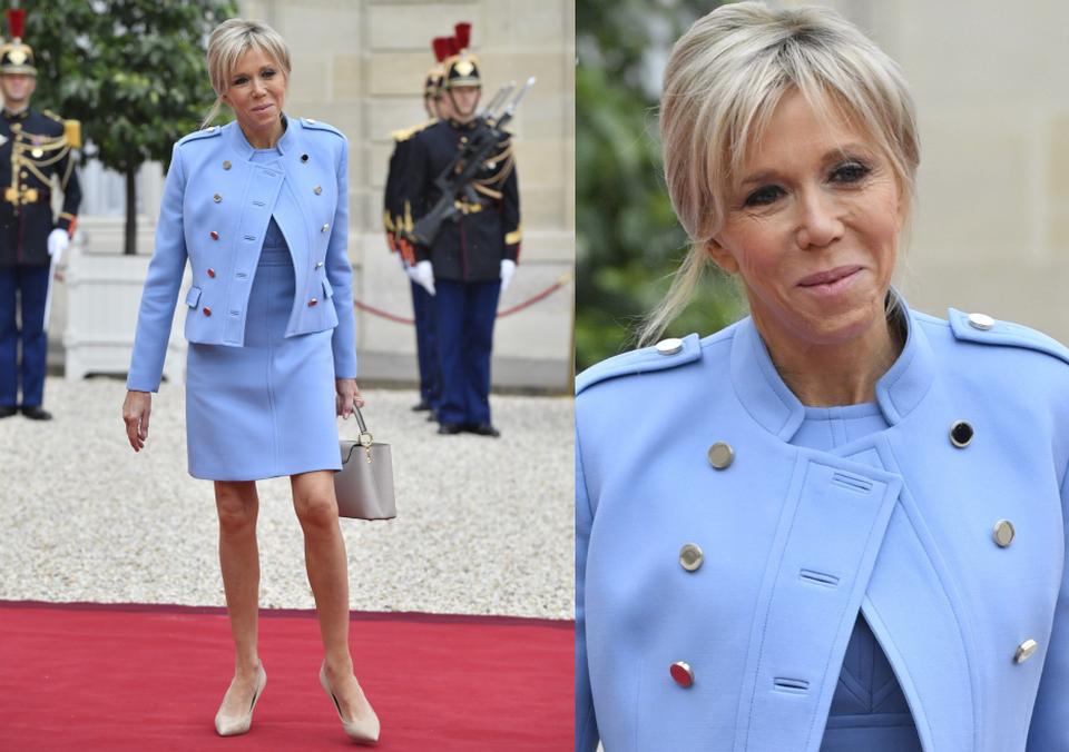 Brigitte Macron na inauguracji męża