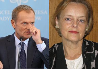 Donald Tusk pozywa konsul Szonert-Biniendę za fotomontaż w stroju SS-mana!