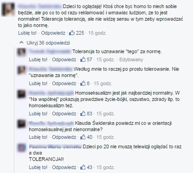 """Internauci oburzeni po lesbijskim pocałunku w """"Na Wspólnej"""": """"Homoseksualna propaganda już ruszyła!"""""""