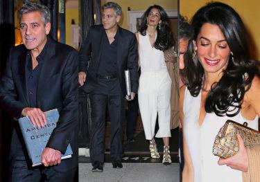 Elegancka Amal i George Clooney na kolacji w Nowym Jorku (ZDJĘCIA)