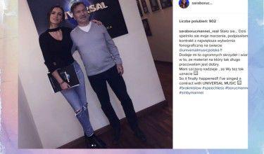"""Sara Boruc """"podpisała kontrakt z największą wytwórnią"""" (FOTO)"""