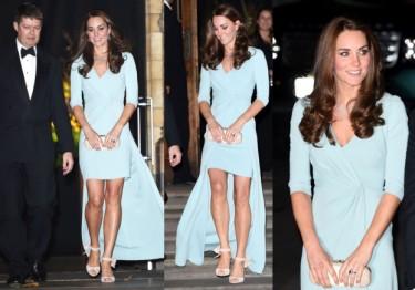 Kate odsłania nogi w błękitnej sukni (ZDJĘCIA)