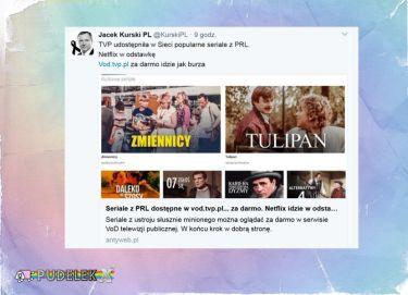 """Kurski chwali nową ofertę TVP: """"Netflix w odstawkę"""""""