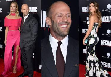 Uśmiechnięty Statham z narzeczoną i Jessica Alba na premierze w Los Angeles (ZDJĘCIA)
