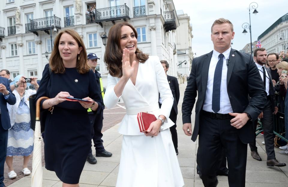 Księżna Kate i książę William spacerują Krakowskim Przedmieściem