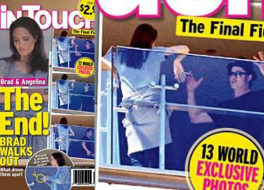 Brad i Angelina kłócą się na balkonie! (ZDJĘCIA)