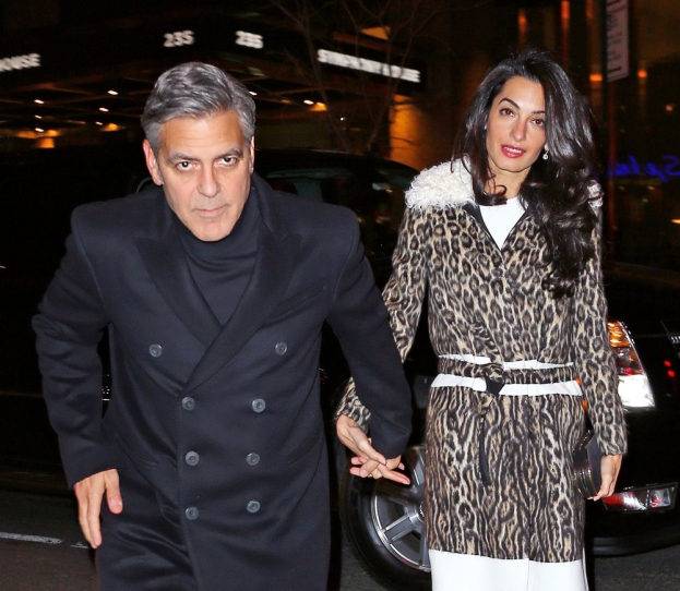 George Clooney, Amal and Nina dine at favourite Patsy's Italian Restaurant in NYC 5ff496f607ecc700cc805c868462684b8864dc3f