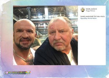 Tomasz Oświeciński chwali się selfie z Grabowskim