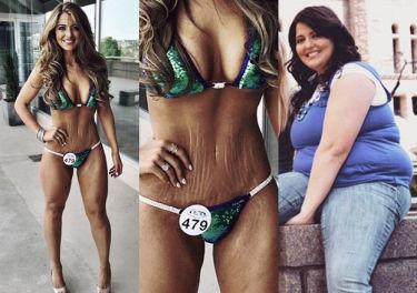 """Amerykanka schudła 59 kilogramów i wygrała konkurs bikini: """"Chwalę się BLIZNAMI I ROZSTĘPAMI!"""""""
