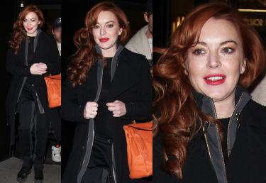 Elegancka (?) Lindsay Lohan w Mediolanie (ZDJĘCIA)
