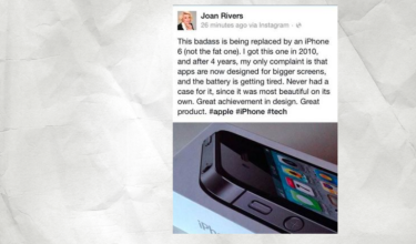 Joan Rivers promuje iPhone'a... po śmierci