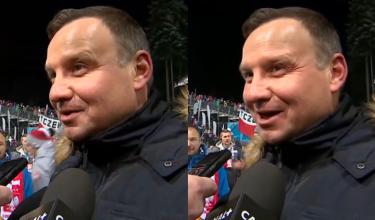 """Andrzej Duda o WOŚP: """"Wspieramy. Wrzuciliśmy pieniądze do puszki!"""""""