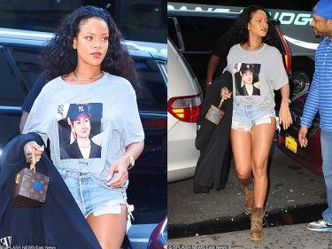 Rihanna w koszulce z Hillary Clinton
