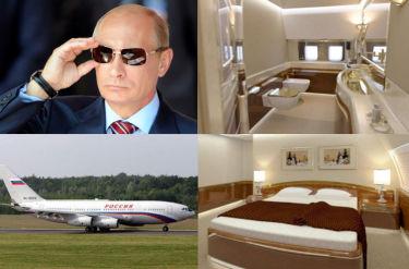 Luksusowe wnętrza Putina. Tak lata prezydent (GALERIA)