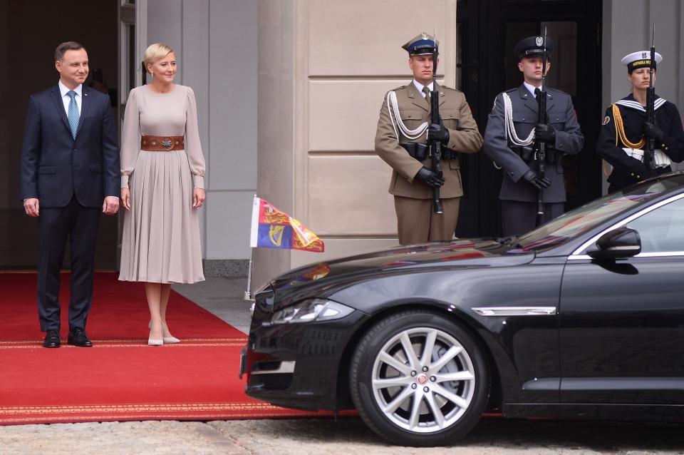Książę William i księżna Kate z wizytą w Pałacu Prezydenckim