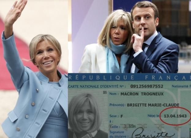 Brigitte Macron ukrywa swój prawdziwy wiek i ma... 74 lata?! Opublikowano skan jej dowodu! (FOTO)