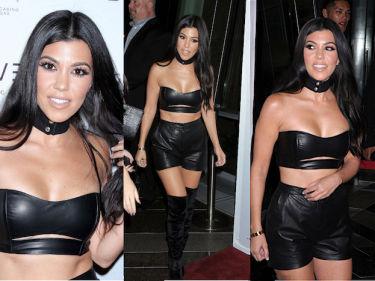 Kourtney Kardashian w skórzanym staniku... (ZDJĘCIA)