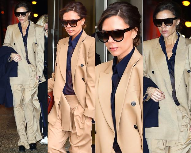 #TRENDY: Victoria Beckham w beżowym garniturze