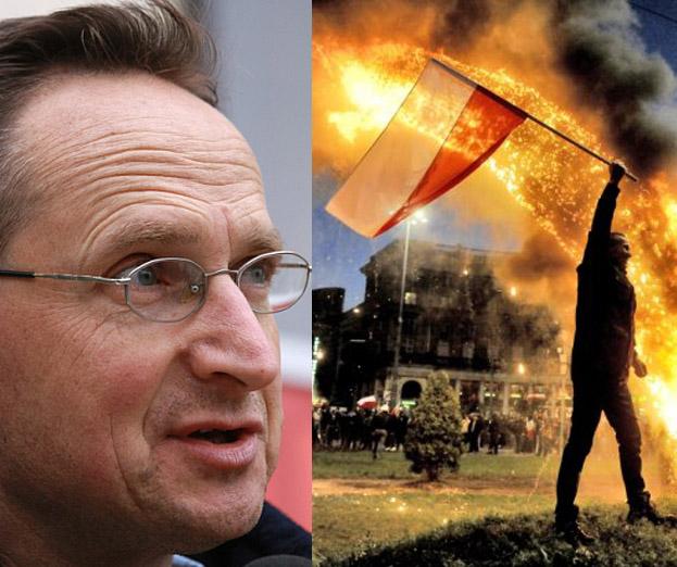 Cejrowski o spaleniu tęczy: