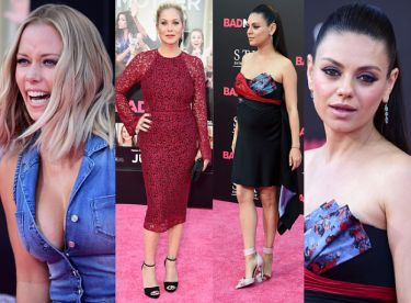 Ciężarna Mila Kunis, Christina Applegate i Kendra Wilkinson na premierze (ZDJĘCIA)