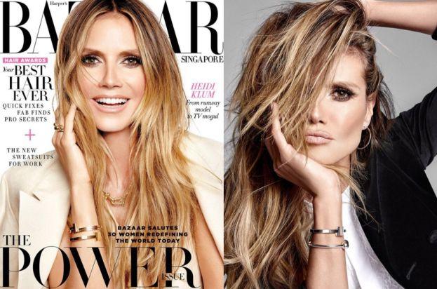 "44-letnia Heidi Klum na okładce ""Harper's Bazaar"""